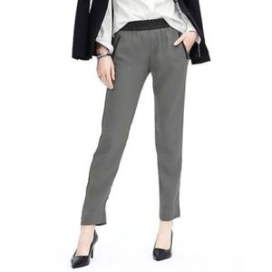 Banana Republic | Drapey Gray Pants Faux Leather